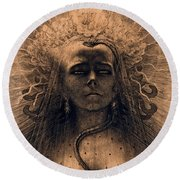 The Idol Of Perversity, 1891 Round Beach Towel