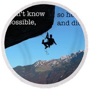 The Impossible II Round Beach Towel