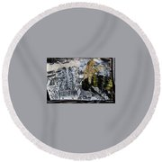 The Insects Watched Sensing They Were Next Round Beach Towel