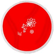 The Kissing Flower On Flower Round Beach Towel
