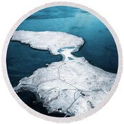 The Land Of Solitude Round Beach Towel
