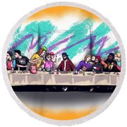 The Last 90s Supper Round Beach Towel