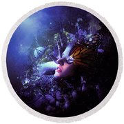 The Last Travel Of The Butterflies Round Beach Towel