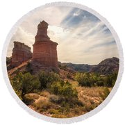 The Lighthouse - Palo Duro Canyon Texas Round Beach Towel