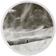 The Lone Boarder - Duochrome Round Beach Towel