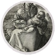 The Madonna And Child In Swaddling, 1520 Round Beach Towel