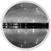 The Margaret Mcdermott Bridge Round Beach Towel