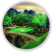 The Masters 12th Hole Round Beach Towel