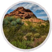 The Mighty Papago Round Beach Towel