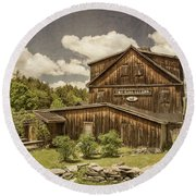 Round Beach Towel featuring the photograph The Mill Tavern by Guy Whiteley