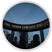 The Moon Circle Round Beach Towel