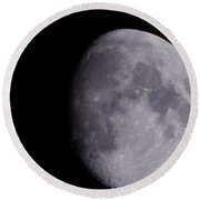Round Beach Towel featuring the photograph The Moon by Lukas Miller