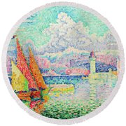 The Musior, Port Of Antibes - Digital Remastered Edition Round Beach Towel