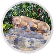 The Nittany Lion Round Beach Towel