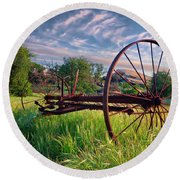 The Old Hay Rake 2 Round Beach Towel