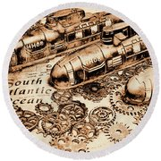 The Old Naval War Room Round Beach Towel