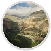 Round Beach Towel featuring the photograph The Ordesa Valley by Stephen Taylor