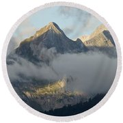 Round Beach Towel featuring the photograph The Ossau Valley  by Stephen Taylor