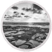 The Other Sunset Round Beach Towel