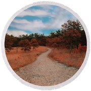 The Path To Enlightenment Round Beach Towel