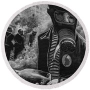 The Petro Bommer 2 Round Beach Towel