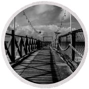 Round Beach Towel featuring the photograph The Pier #2 by Stuart Manning