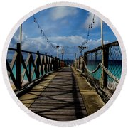 Round Beach Towel featuring the photograph The Pier #3 by Stuart Manning
