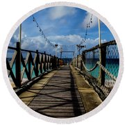 Round Beach Towel featuring the photograph The Pier by Stuart Manning
