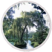 Whimsically Weeping Round Beach Towel