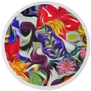 The Power Of Flowers Round Beach Towel