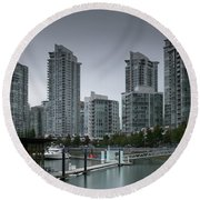 The Quayside Marina - Yaletown Apartments Vancouver Round Beach Towel
