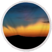 The Rays Of Dawn Round Beach Towel