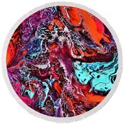 The Red Planet  Round Beach Towel