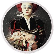 The Red Queen Round Beach Towel