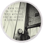 The Right Track Round Beach Towel