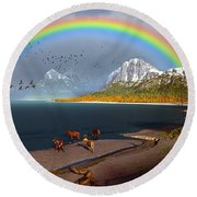 The Rings Of Eden Round Beach Towel