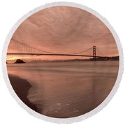 Round Beach Towel featuring the photograph The Rising- by JD Mims