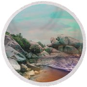 The Rising Tide Montage Round Beach Towel