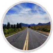 The Road Best Traveled Round Beach Towel