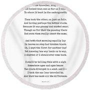 The Road Not Taken - Robert Frost Poem - Minimal, Sophisticated, Modern, Classy Typewriter Print Round Beach Towel