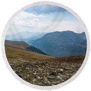 Round Beach Towel featuring the photograph The Rocky Arctic by Nicole Lloyd