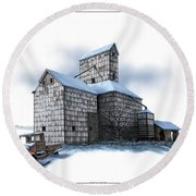 The Ross Elevator Winter Round Beach Towel