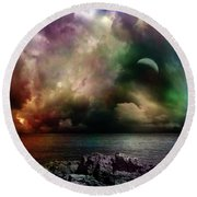 The Sacred Storm Round Beach Towel