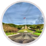 A Resting Place National Cemetery Of The Pacific Oahu Hawaii Art Round Beach Towel