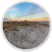 The Sea Is The Place To Be Round Beach Towel