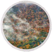 Round Beach Towel featuring the photograph The Shoulder Of Greylock by Raymond Salani III