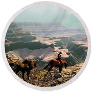 The Sinking Earth Round Beach Towel