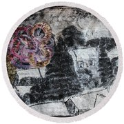 The Slow And Winding Tale Of Destruction Round Beach Towel