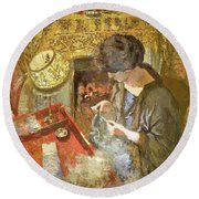 The Small Drawing-room - Digital Remastered Edition Round Beach Towel