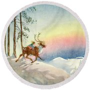 The Snow Queen, Illustration From Round Beach Towel